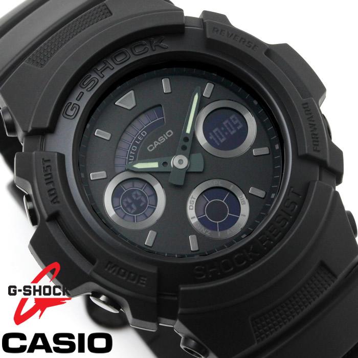 CASIO カシオ G-SHOCK Gショック 腕時計 メンズ アナデジ AW-591BB-1A ラバーベルト ブラック 海外モデル