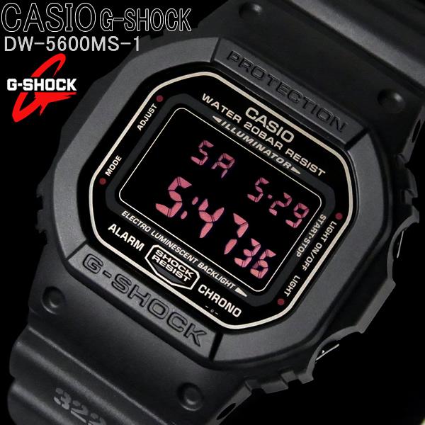 カシオ CASIO Gショック ジーショック メンズ 腕時計 MAT BLACK RED EYE マットブラック レッドアイ DW-5600MS-1 ブランド うでどけい WATCH ウォッチ 時計【メンズ】【CASIO】【G-SHOCK】【腕時計】