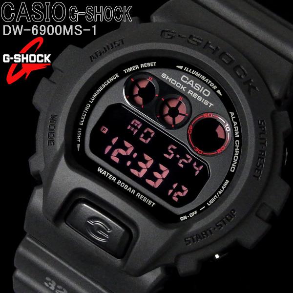 カシオ CASIO Gショック ジーショック メンズ 腕時計 MAT BLACK RED EYE マットブラック レッドアイ DW-6900MS-1 ブランド うでどけい WATCH ウォッチ 時計【メンズ】【CASIO】【G-SHOCK】【腕時計】