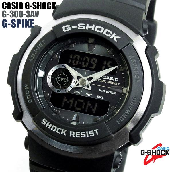 G-SHOCK カシオ 腕時計 CASIO Gショック G-300-3AV G-SPIKE G-スパイク デジタル メンズ ウォッチ プレゼント ギフト WATCH【メンズ】【腕時計】【CASIO/G-SHOCK】