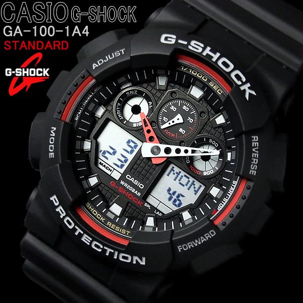 c9ec061470b7 CASIO g-shock CASIO watch GA-A4G 100-1 shock STANDARD Casio GSHOCK GA100-1A4  standard black Black Red Red whole dejana. Casio immobile super popular  series ...