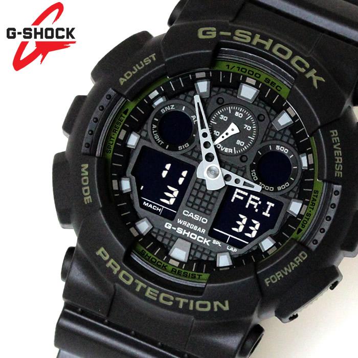 カシオ CASIO Gショック G-SHOCK アナデジ メンズ 腕時計 ブラック 緑 カーキ GA-100L-1A ラッピング無料可能 ランキング おすすめ かっこいい 大人 アウトドア おすすめ ギフト クリスマス ラッピング無料可能 プレゼント おしゃれ 【腕時計】 ランキング 流行 激安