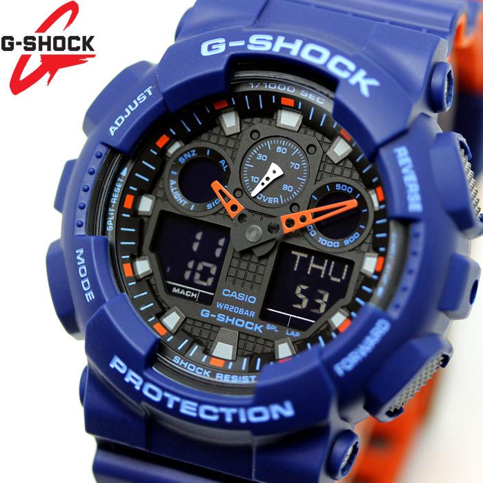 CASIO カシオ G-SHOCK Gショック 腕時計 メンズ アナデジ GA-100L-2A ブルー オレンジ ブラック スペシャルカラー レイヤードカラー プレゼント ギフト おすすめ ブランド 特価【腕時計】【CASIO/G-SHOCK】