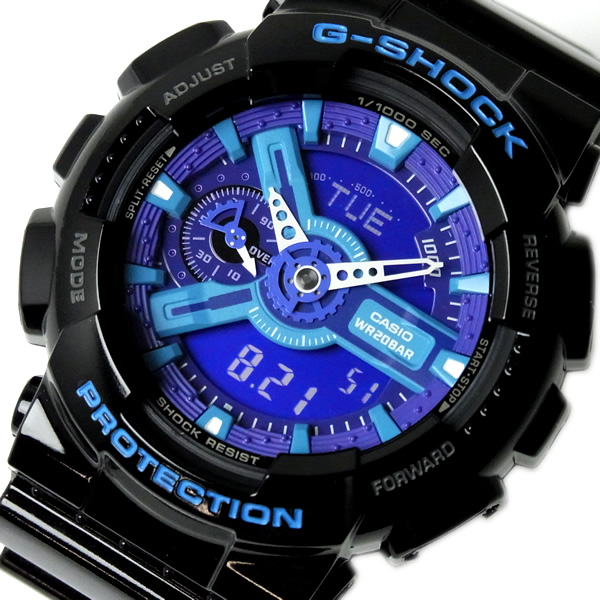 e5cabca6f3d79 CASIO g-shock CASIO watch GA-110HC-1 G shock an analog-digital black blue