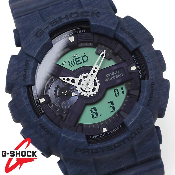 G-SHOCK 腕時計 メンズ CASIO カシオ ヘザード・カラー・シリーズ GA-110HT-2A Gショック アナデジ ジーショック GSHOCK ビッグケース ブルー ネイビー デジアナ 激安 とけい うでどけい tokei udedokei watch ウォッチ