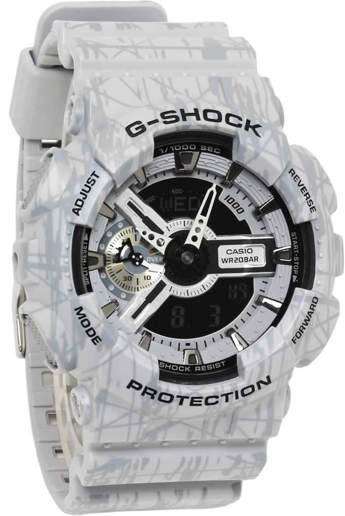 G-SHOCK手表人CASIO卡西欧斜线·模式·系列GA-110SL-8A G shokkuanadejijishokku GSHOCK biggukesuguredejiana非常便宜的tokeiudedokei tokei udedokei watch表