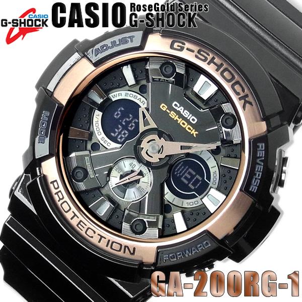 【送料無料】CASIO カシオ G-SHOCK Gショック ジーショック メンズ 腕時計 デジアナ ローズゴールド メンズウォッチ MEN'S WATCH うでどけい ブラック 黒