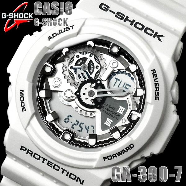 the best attitude b4507 222eb G-SHOCK カシオ 腕時計 CASIO Gショック アナデジ デジアナ 白 ホワイト GA-300-7 メンズ ウォッチ メンズ 腕時計  うでどけい【CASIO G-SHOCK】【メンズ】【腕時計 時計】|HAPIAN