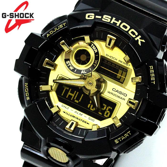 CASIO カシオ G-SHOCK Gショック アナデジ GA-710GB-1A メンズ 【腕時計】 【ウォッチ】 腕時計 ラッピング無料可能 かっこいい おしゃれ プレゼント ギフト 人気 クリスマス 誕生日 激安