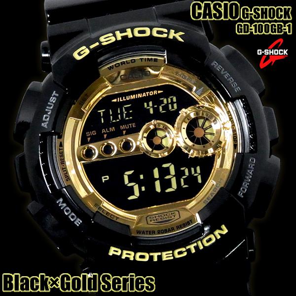 G-SHOCK カシオ 腕時計 CASIO Gショック GD-100GB-1DR GD-100GB-1 Black×Gold Series メンズ ウォッチ ブラック×ゴールド デジタル プレゼント ギフト 人気 MENS' とけい 腕時計【メンズ】【腕時計】【CASIO/G-SHOCK】