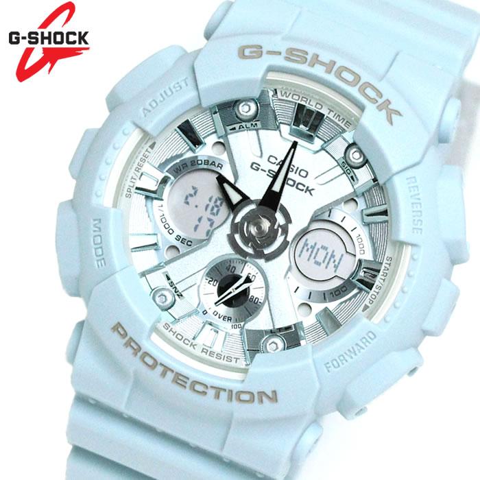 カシオ CASIO Gショック G-SHOCK 腕時計 GMA-S120DP-2A S Series Sシリーズ 逆輸入 海外モデル アナデジ ライトブルー ラッピング無料可能 プレゼント かっこいい パステルカラー 春 コンパクト 小さい