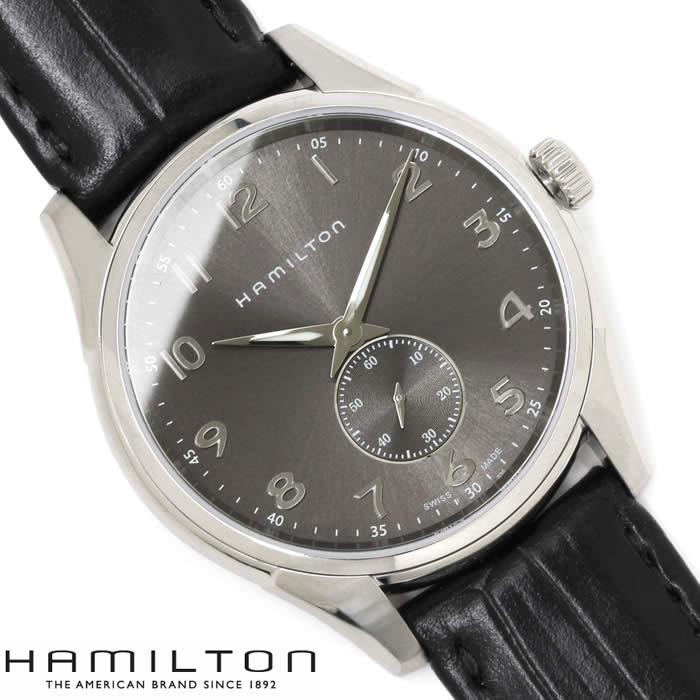 【送料無料】ハミルトン ジャズマスター シンライン スモールセコンド 腕時計 HAMILTON メンズ H38411783 Jazzmaster Thinline Small Second 革ベルト ブランド レザー グレー