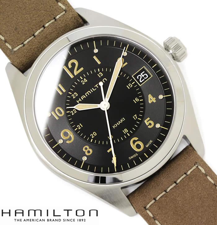 【送料無料】ハミルトン カーキ フィールド 腕時計 HAMILTON メンズ H68551833 Khaki Field 革ベルト ブランド レザー 本革 人気 ブラック ブラウン 激安 セール プレゼント
