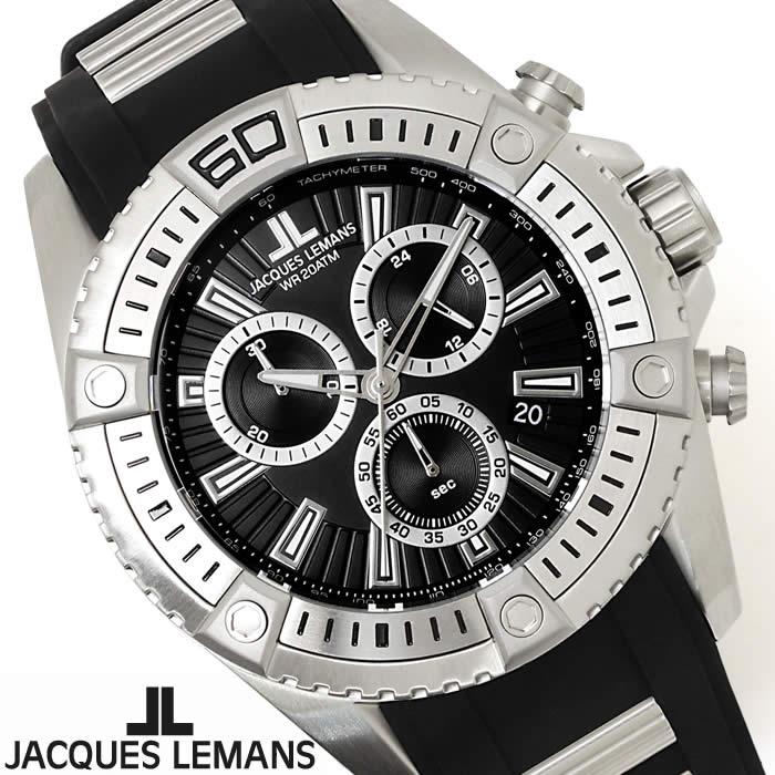 【送料無料】腕時計 メンズ ジャックルマン JACQUES LEMANS 1-1805A リバプール クロノグラフ 時計 ウレタンベルト スポーツ ブランド ブラック シルバー シンプル 激安 とけい うでどけい ウォッチ watch tokei udedokei