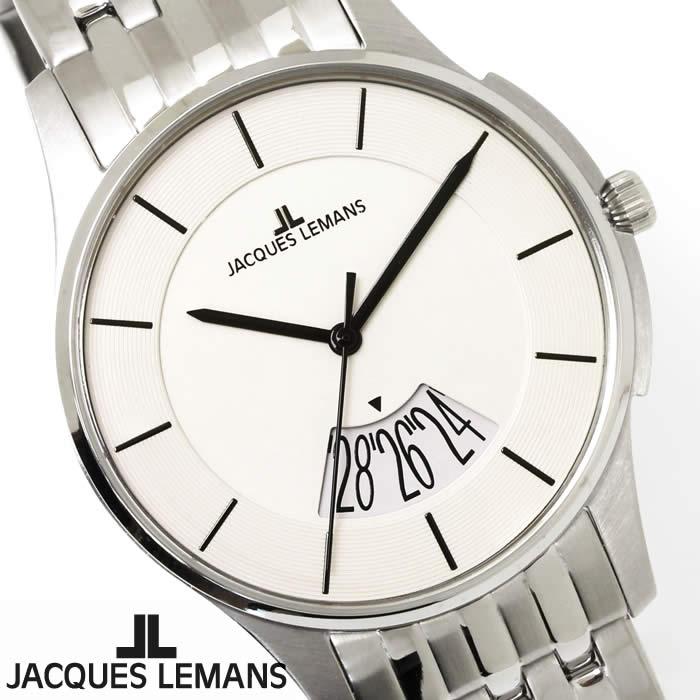 【送料無料】腕時計 メンズ ジャックルマン JACQUES LEMANS 1-1821B ロンドン ペアモデル 時計 ペアウォッチ ペア腕時計 ステンレス ビッグデイト アナログ 激安 人気 とけい うでどけい ウォッチ watch tokei udedokei