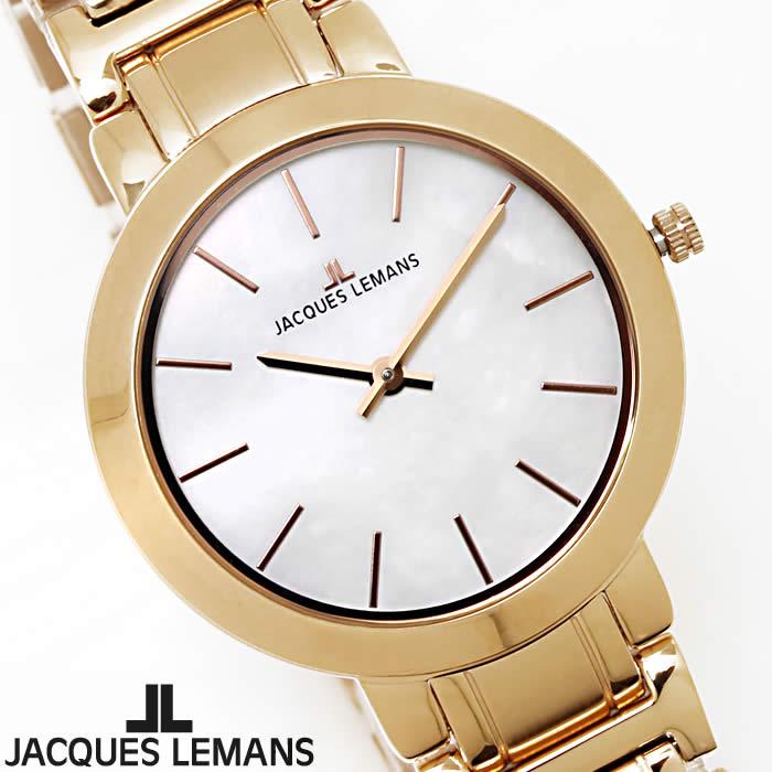 【送料無料】腕時計 レディース ジャックルマン JACQUES LEMANS 1-1824E ミラノ シェル文字盤 時計 白蝶貝 フォーマル ブランド ローズゴールド 細身 華奢 パーティー 激安 とけい うでどけい ウォッチ watch tokei udedokei