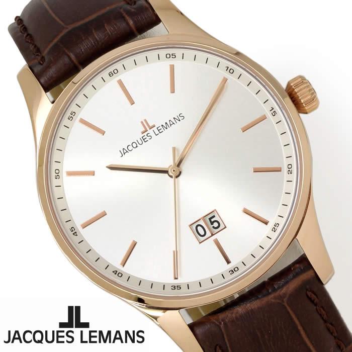 【送料無料】腕時計 メンズ ジャックルマン JACQUES LEMANS 1-1862F ロンドン 革ベルト 時計 防水 シンプル ブランド レザー オフィス シルバー ブラウン ローズゴールド 人気 激安 とけい うでどけい ウォッチ watch tokei udedokei