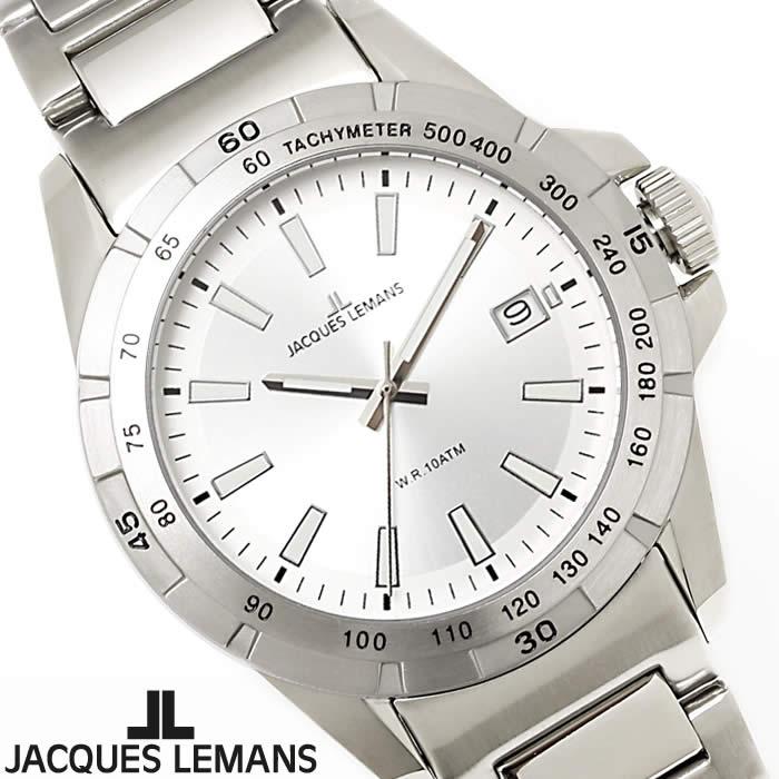 【送料無料】腕時計 メンズ ジャックルマン JACQUES LEMANS 1-1903B リバプール 時計 オフィス ビジネス ブランド ダイバーズウォッチデザイン 防水 人気 シルバー 激安 人気 とけい うでどけい ウォッチ watch tokei udedokei