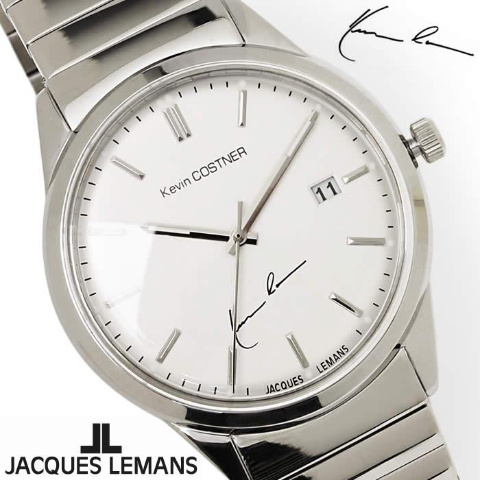 【送料無料】腕時計 メンズ ジャックルマン JACQUES LEMANS KC102D ケビンコスナー アナログ 時計 ブランド アナログ ケビン・コスナー・コレクション シンプル シルバー 激安 人気 とけい うでどけい ウォッチ watch tokei udedokei