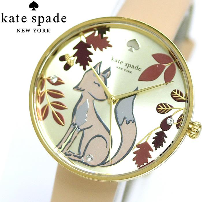 ケイトスペード KATE SPADE KSW1461 レディース 腕時計 METORO キツネ クオーツ プレゼント 誕生日 クリスマス ラッピング無料可能 SNS インスタ レザー