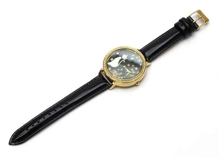 8f7c889f76 腕時計レディースミニminiキッズ革ベルトブランド個性的可愛いガールズ猫ねこキャットキラキラ