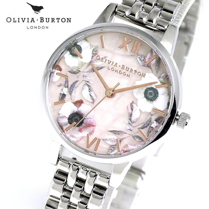 オリビアバートン Olivia Burton レディース 腕時計 花 フラワー OB16SP07 シンプル エレガント 女性らしい 華やか フェミニン ラッピング無料 希少 おしゃれ かわいい 女性 プレゼント ブランド 上品