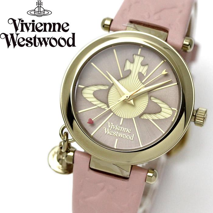 ヴィヴィアンウエストウッド VivienneWestwood レディース 腕時計 本革 レザー オーブ チャーム付き VV006PKPK 流行 ブランド ラッピング無料 新生活 祝い プレゼント 人気 新作 流行 おしゃれ モテ 【腕時計】 【レディース】