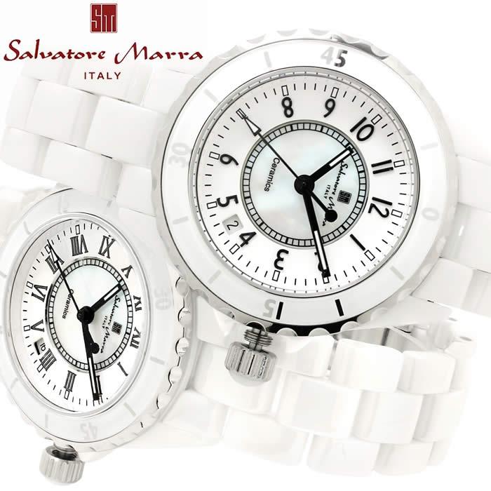 腕時計 メンズ サルバトーレマーラ 時計 激安 ダイバーズウォッチ風 セラミック ホワイト SM15120 Salvatore Marra 人気 プレゼント ギフト 激安 特価 WATCH うでどけい【腕時計】【SalvatoreMarra/サルバトーレ・マーラ】
