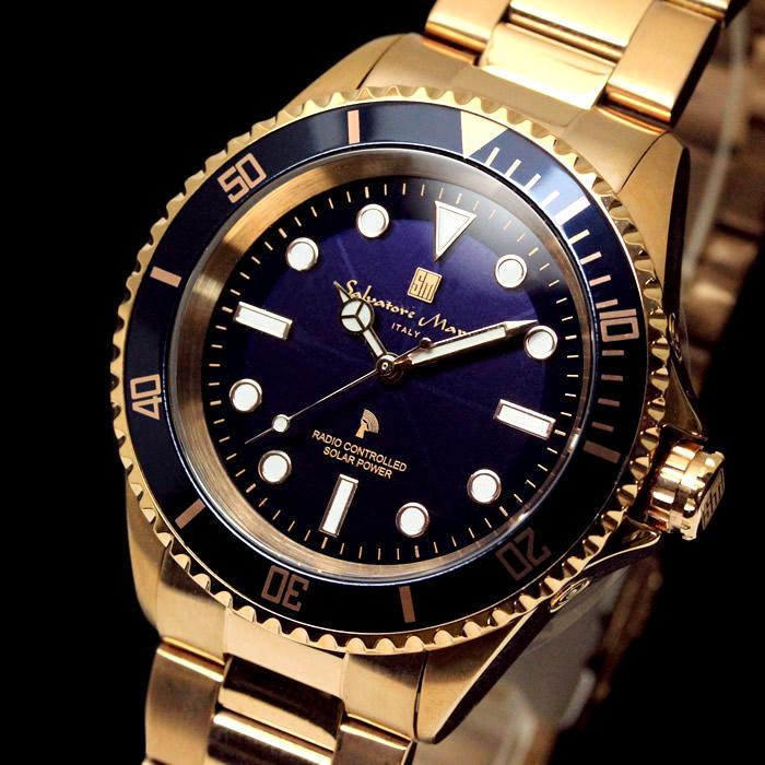 7eacfb6cd3 ソーラー電波腕時計防水電波ソーラー電波ソーラー腕時計メンズダイバーズウォッチサルバトーレマーラ時計ブランド