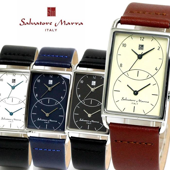 Salvatore Marra サルバトーレマーラ 腕時計 メンズ クオーツ 日常生活防水 カレンダー SM18108 スクエア バレンタイン プレゼント ラッピング無料可能 かっこいい