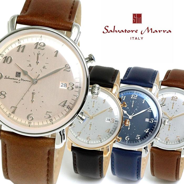 Salvatore Marra サルバトーレマーラ 腕時計 メンズ クオーツ 日常生活防水 カレンダー クロノグラフ SM18109 バレンタイン プレゼント ラッピング無料可能 かっこいい