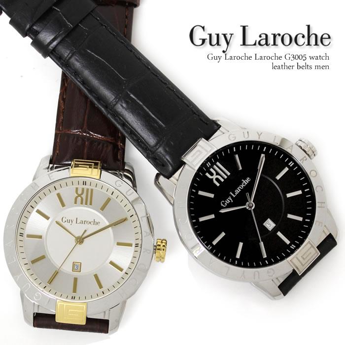 【送料無料】腕時計 メンズ 腕時計 時計 ギ・ラロッシュ Guy Laroche ブランド ギラロッシュ 革ベルト レザー G2009-01 G2009-02 プレゼント ギフト 人気 特価 WATCH うでどけい【腕時計】【Guy Laroche/ギラロッシュ】