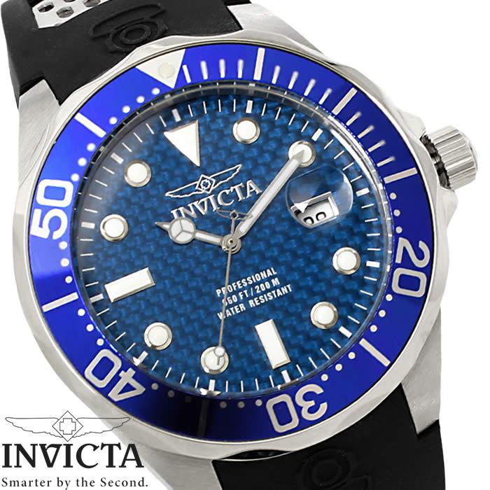 腕時計 メンズ INVICTA インビクタ ダイバーズウォッチ プロダイバー 12559 ブルー シルバー ブラック クオーツ Pro Diver ウレタン ブランド 人気 プレゼント 特価 WATCH うでどけい【腕時計】【INVICTA/インビクタ】