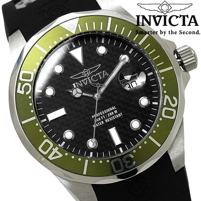 腕時計 メンズ INVICTA インビクタ プロダイバー クオーツ 12560 ブランド Pro Diver ウレタンバンド シルバー ブラック グリーン 人気 プレゼント ギフト 激安 特価 WATCH うでどけい【腕時計】【INVICTA/インビクタ/INVICTA】
