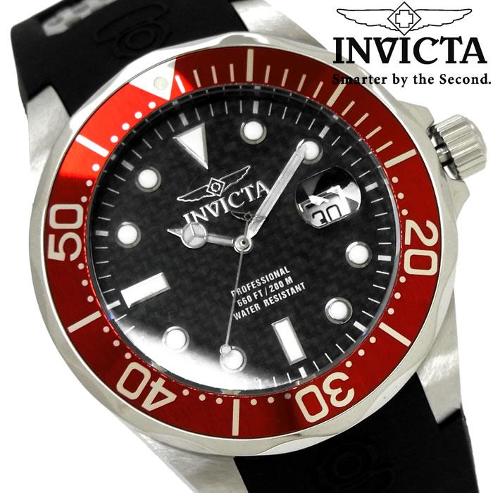 腕時計 メンズ INVICTA インビクタ プロダイバー クオーツ 12561 ブランド Pro Diver ウレタンバンド シルバー ブラック レッド 人気 プレゼント ギフト 激安 特価 WATCH うでどけい【腕時計】【INVICTA/インビクタ/INVICTA】