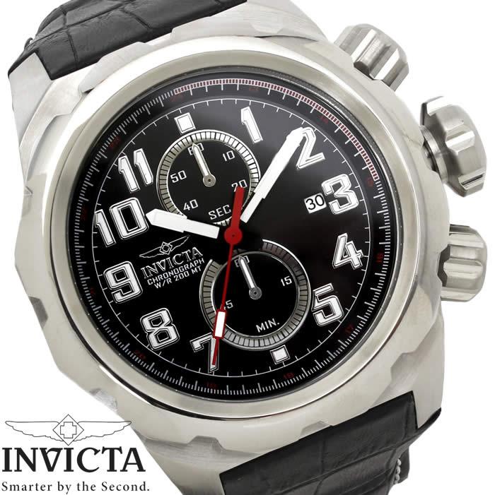 【送料無料】腕時計 メンズ INVICTA インビクタ ダイバーズウォッチ プロダイバー 15066 ブラック シルバー クオーツ Pro Diver 革ベルト レザー ブランド 大型 ビッグケース 特価 WATCH うでどけい【腕時計】【INVICTA/インビクタ】