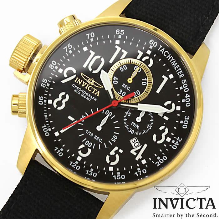 【送料無料】腕時計 メンズ INVICTA インビクタ 1515 クロノグラフ フォースコレクション ブラック ゴールド クオーツ 革ベルト クロスベルト レザー ブランド 人気 プレゼント 特価 WATCH うでどけい【腕時計】【INVICTA/インビクタ】