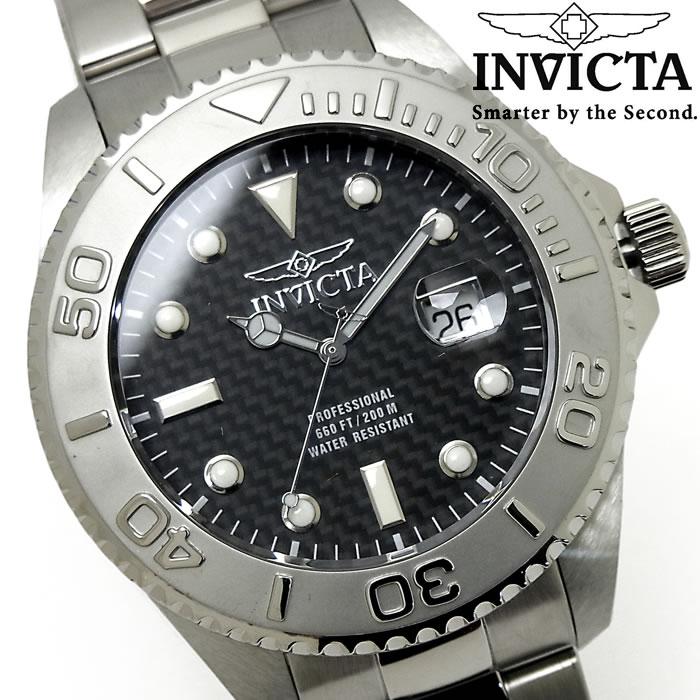 【送料無料】腕時計 メンズ INVICTA インビクタ プロダイバー クオーツ 15173 ブランド Pro Diver ダイバーズウォッチ ビッグケース シルバー ブラック 人気 プレゼント ギフト 激安 特価 WATCH うでどけい【腕時計】【INVICTA/インビクタ/INVICTA】