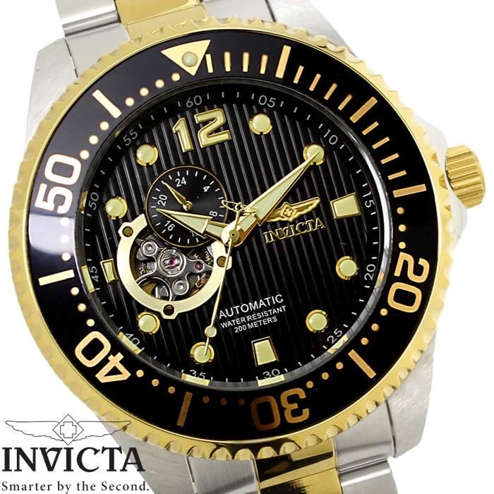 【送料無料】腕時計 メンズ INVICTA インビクタ グランドダイバー 自動巻き 15400 ブラック ゴールド シルバー Grand Diver ステンレス ダイバーズウォッチ ブランド 人気 プレゼント 特価 WATCH うでどけい【腕時計】【INVICTA/インビクタ】