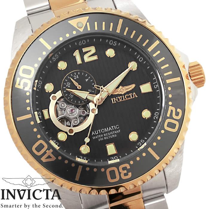 【送料無料】腕時計 メンズ INVICTA インビクタ グランドダイバー 自動巻き 15417 グレー ローズゴールド シルバー Grand Diver ステンレス ダイバーズウォッチ ブランド 人気 特価 WATCH うでどけい【腕時計】【INVICTA/インビクタ】