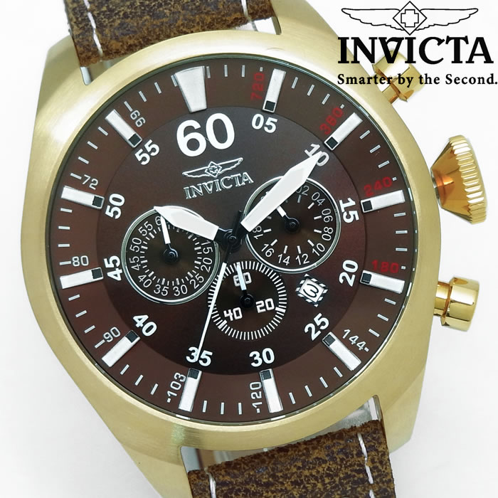 【送料無料】腕時計 メンズ クロノグラフ INVICTA インビクタ Tritnite パイロット 革ベルト 19669 ブランド ビッグケース レザー アナログ 人気 プレゼント ギフト 激安 特価 WATCH うでどけい【腕時計】【INVICTA/インビクタ/INVICTA】
