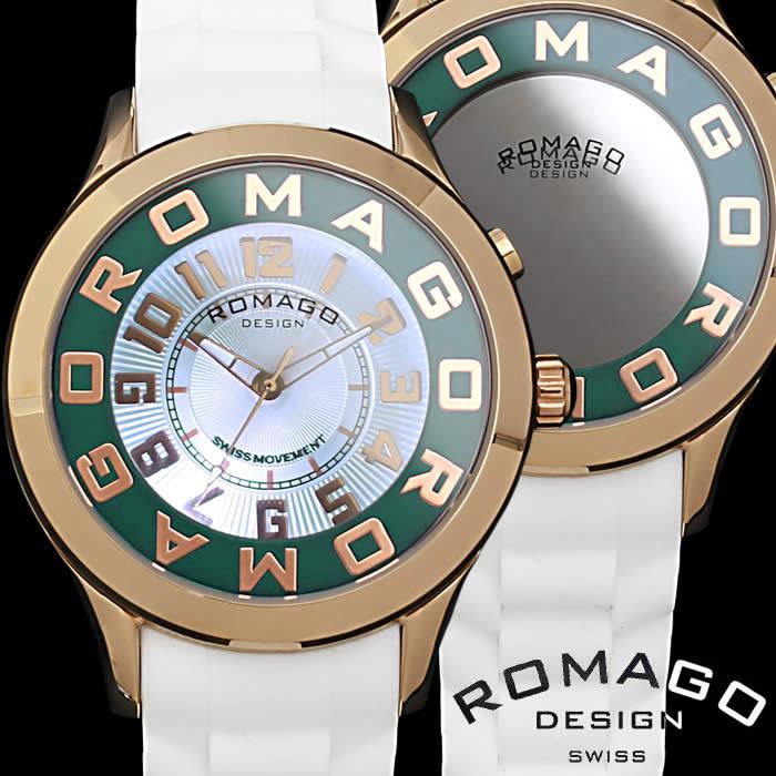 【送料無料】ロマゴ デザイン ROMAGO DESIGN 腕時計 レディース ミラーウォッチ アトラクション 男女兼用 メンズ シリコンベルト LED 個性的 RM015-0162PL-RGGR プレゼント 人気 ブランド うでどけい プレゼント ギフト【ROMAGO DESIGN/ロマゴデザイン】