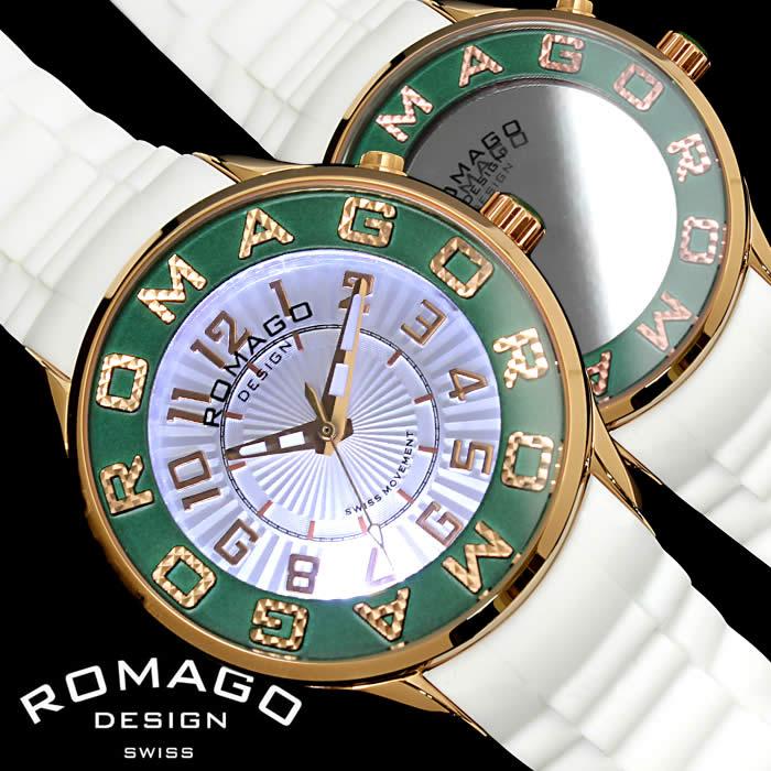 【送料無料】ロマゴ デザイン ROMAGO DESIGN 腕時計 レディース ミラーウォッチ アトラクション メンズ シリコンベルト LED 個性的 RM067-0162PL-RGGR プレゼント ギフト 人気 ブランド うでどけい プレゼント ギフト【ROMAGO DESIGN/ロマゴデザイン】