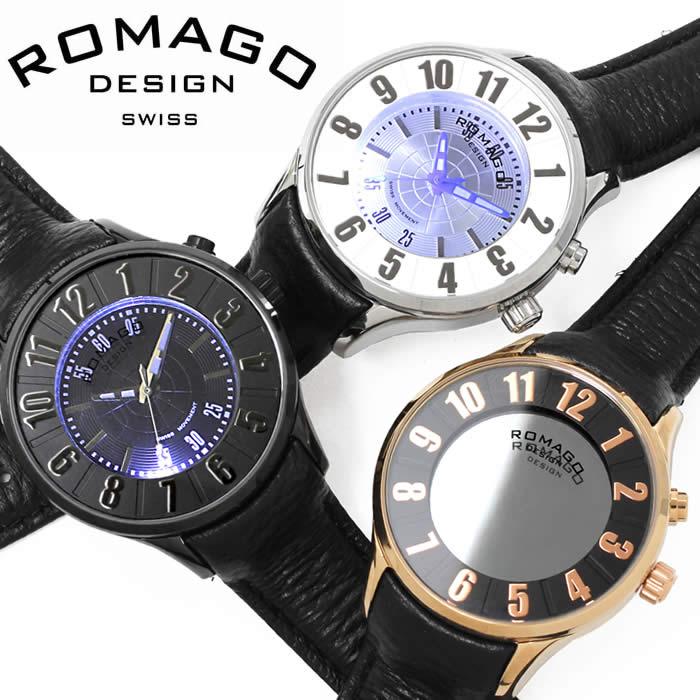 【送料無料】腕時計 ロマゴ デザイン ROMAGO DESIGN 西内まりや レディース ミラーウォッチ 革ベルト レザー ヌメレーション メンズ 個性的 RM068-0053ST プレゼント ギフト 人気 ブランド うでどけい プレゼント ギフト【ROMAGO DESIGN/ロマゴデザイン】