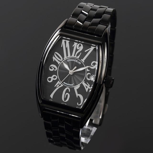 グランドール GRANDEUR 腕時計 メンズ 男性 日本製 MADE IN JAPAN モデル トノー型 クォーツ 3針 JGR001B1 かっこいい テレビ 俳優 ドラマ プレゼント 送料無料可能 誕生日 話題 インスタ SNS