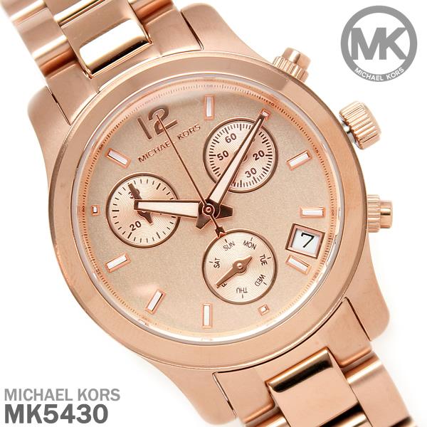 【送料無料】マイケルコース 時計 レディース クロノグラフ MICHAEL KORS 腕時計 マイケル コース MK5430 ピンクゴールド シンプル プレゼント ギフト WATCH うでどけい とけい【MICHAEL KORS】【腕時計】【ブランド】
