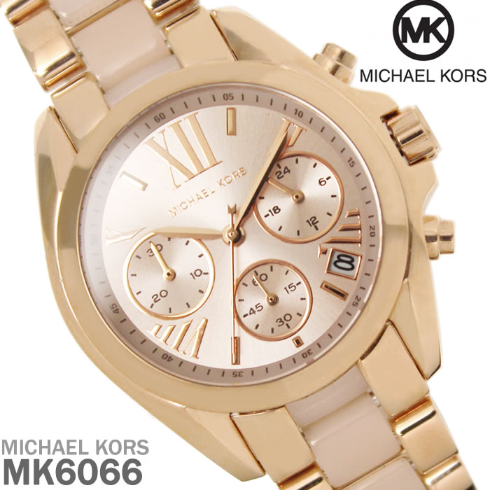 送料無料 マイケルコース MICHAEL KORS クロノグラフ BRADSHAW レディース 腕時計 MK6066 ブランド ブラッドショー WATCH うでどけい 時計 ギフト 発売モデル プレゼント 人気 セレブ 激安 特価 ピンクゴールド 永遠の定番モデル
