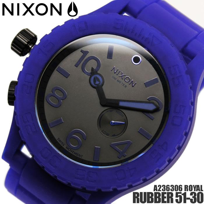 【送料無料】ニクソン RUBBER 51-30 A236306 NIXON 腕時計 メンズ ラバー51-30 ブランド ロイヤル ブルー 青 ロイヤルブルー ROYAL シリコンラバー プレゼント ギフト 激安 特価 人気 特価 激安 WATCH うでどけい【腕時計】【ニクソン/NIXON】