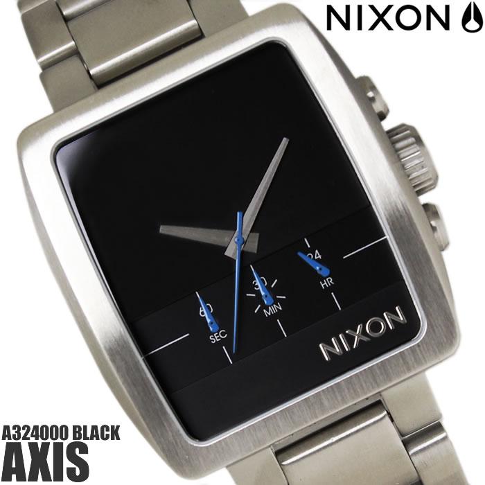 【送料無料】ニクソン THE AXIS A324000 NIXON 腕時計 メンズ アクシス クロノグラフ トノー ブランド ブラック 黒 ストップウォッチ 時計 プレゼント ギフト 人気 特価 激安 WATCH うでどけい【腕時計】【ニクソン/NIXON】
