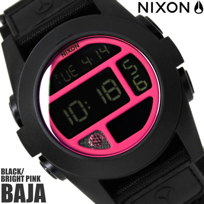 【送料無料】ニクソン THE BAJA A489480 NIXON 腕時計 メンズ バハ ブランド ナイロンベルト ブラック 黒 時計 イエロー デジタル 金属アレルギー対応 プレゼント ギフト 人気 特価 激安 WATCH うでどけい【腕時計】【ニクソン/NIXON】